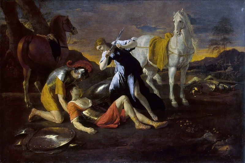 Tancred and Erminia. Nicolas Poussin