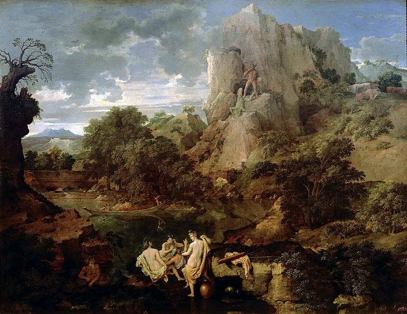 Landscape with Hercules and Cacus. Nicolas Poussin