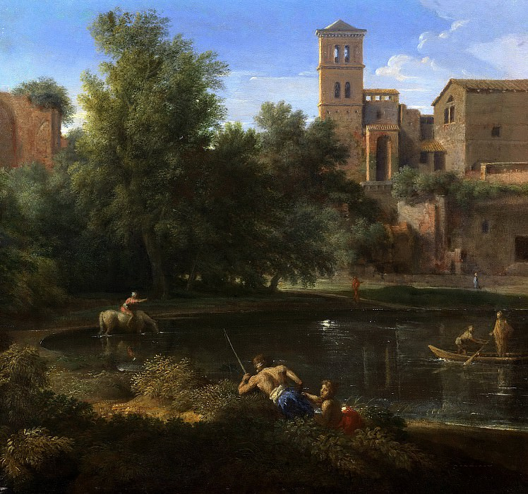 Landscape with a Pool. Nicolas Poussin