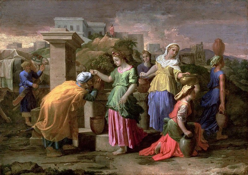 Eliezer and Rebecca at the Well. Nicolas Poussin