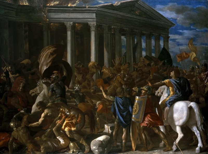 The Destruction of the Temple of Jerusalem. Nicolas Poussin