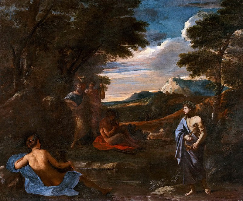 Landscape with Apollo and Marsyas. Nicolas Poussin