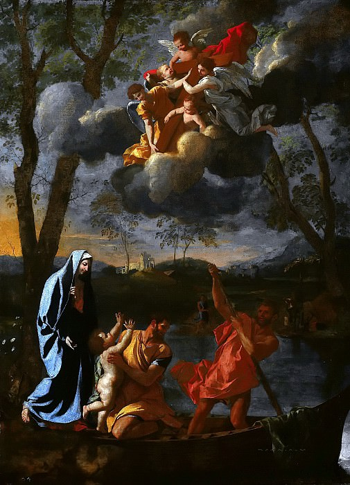 The Return of the Holy Family to Nazareth. Nicolas Poussin