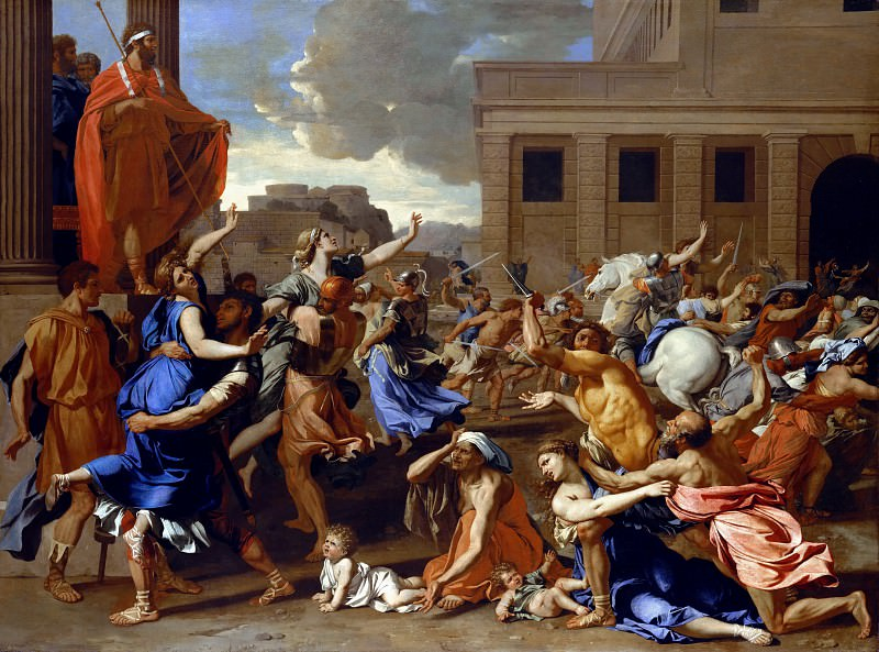 The Abduction of the Sabine Women. Nicolas Poussin
