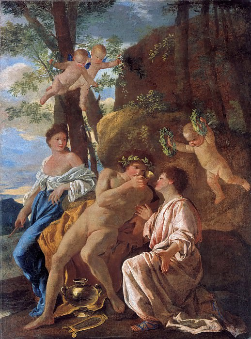 The Inspiration of Anacreon. Nicolas Poussin