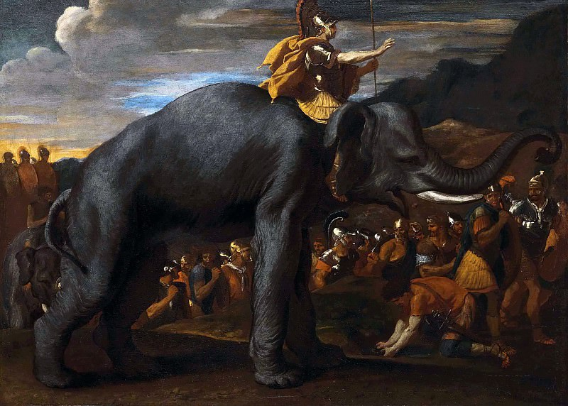 Hannibal crossing the Alps on an Elephant. Nicolas Poussin