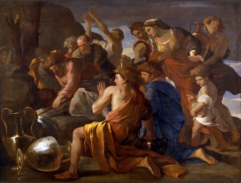 Moses Sweetening the Waters of Marah. Nicolas Poussin