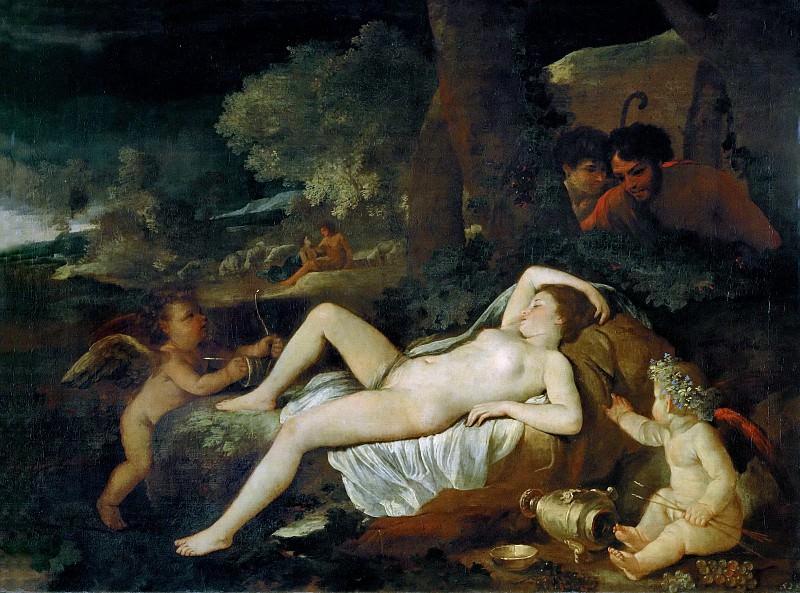 Sleeping Venus and the Shepherds. Nicolas Poussin