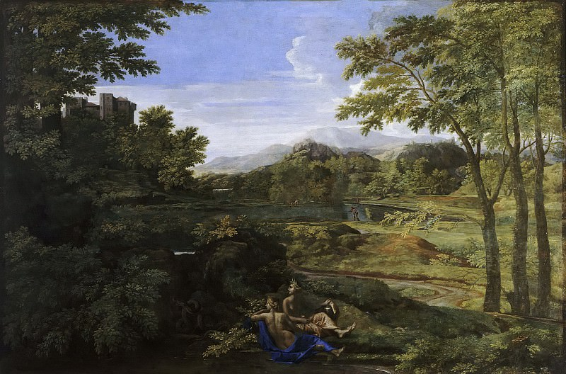 Landscape with two nymphs. Nicolas Poussin
