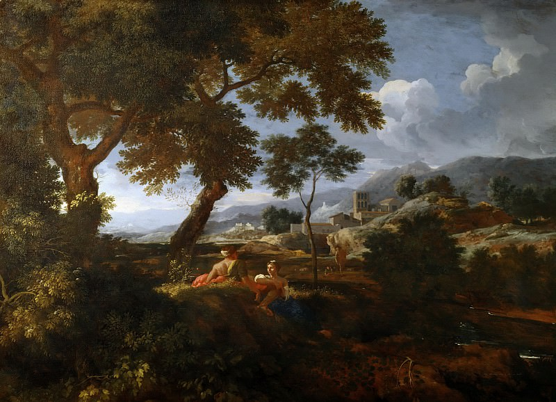 Roman landscape (attr.). Nicolas Poussin