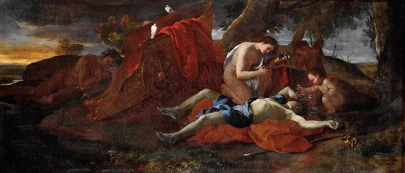 Venus bemoans the death of Adonis. Nicolas Poussin