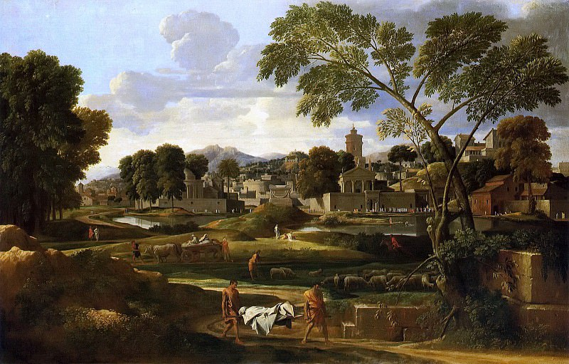 Landscape with the Funeral of Phocion. Nicolas Poussin