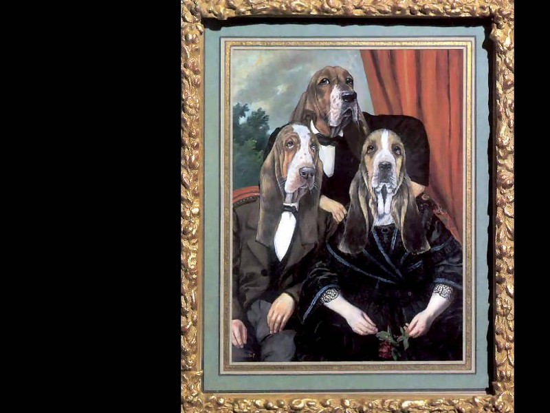 dog portraits the gilded burymores. Thierry Poncelet