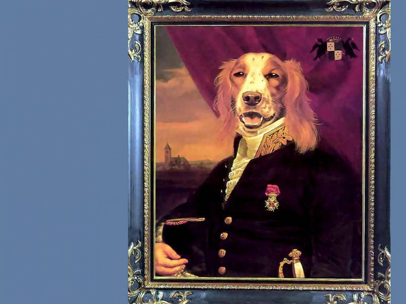 dog portraits commodore sir giles mallard stalker. Thierry Poncelet