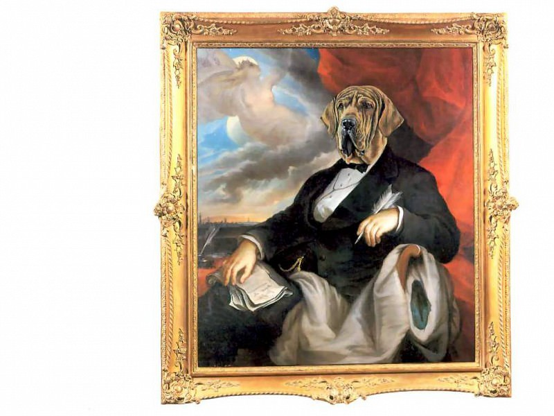 dog portraits sir luther deadbolt. Thierry Poncelet