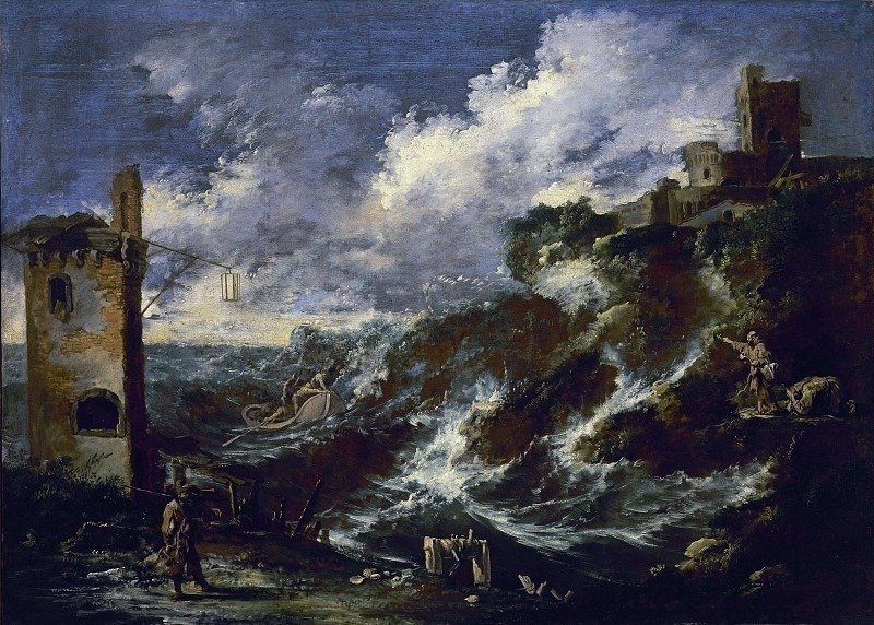 Марина со штормом. Антонио Франческо Перуццини