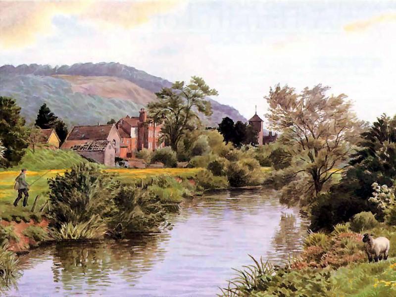 Река Лагг у Мордифорда. Бенджамин Перкинс