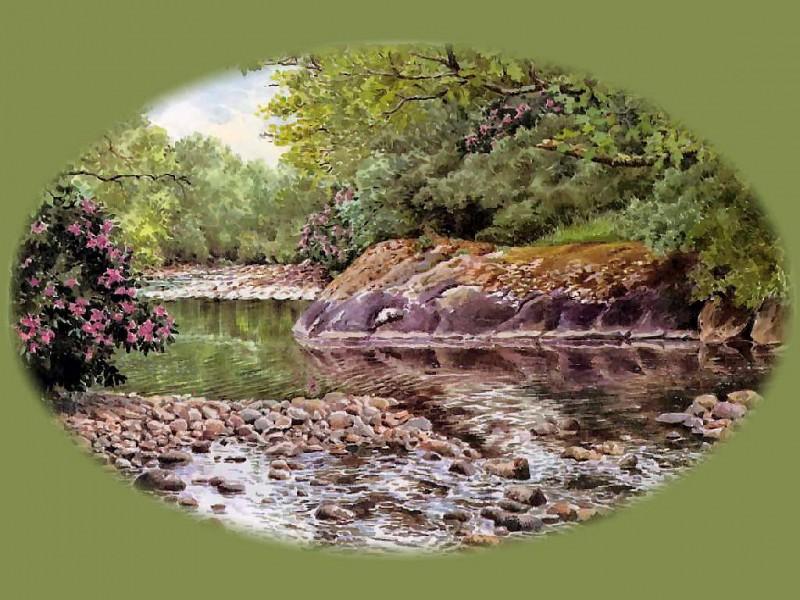 Пересыхающий водоем среди скал. Бенджамин Перкинс