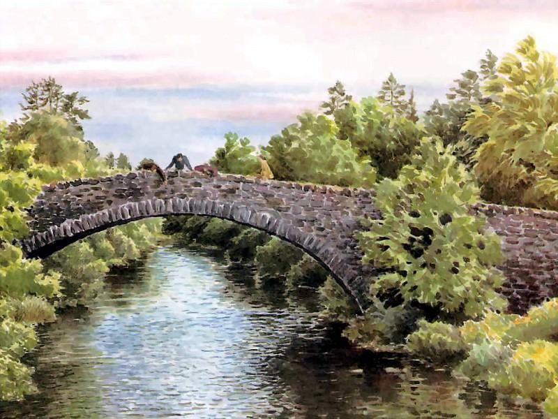 Старый мост через реку Мойдарт. Бенджамин Перкинс