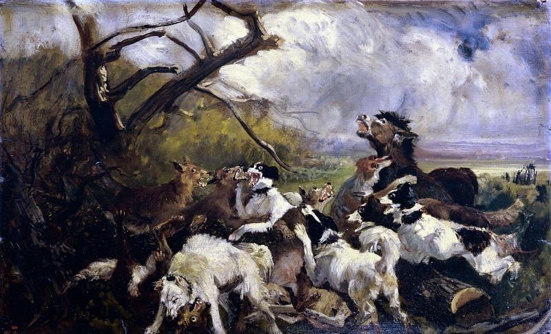 Драка между собаками и волками. Филиппо Палицци