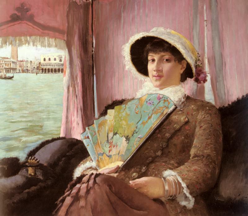 Girl In A Gondola. Georg Pauli