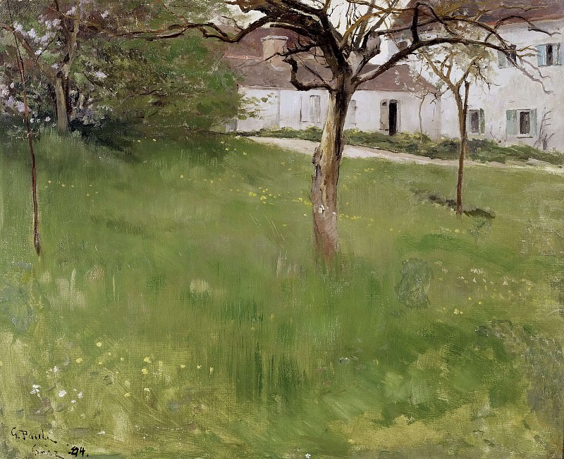 A Garden in Grez. Georg Pauli