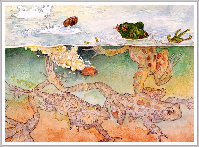 The Children And The Frogs. Jerry Pinkney