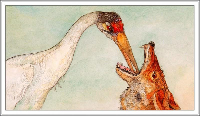 бульдог рисунки к басне крылова волк и журавль треска