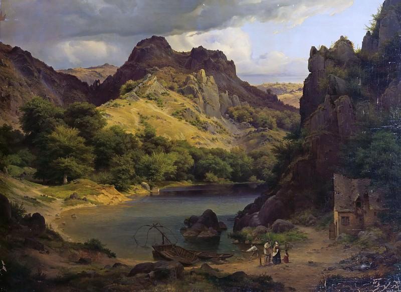 Mountain lake. Eduard Wilhelm Pose