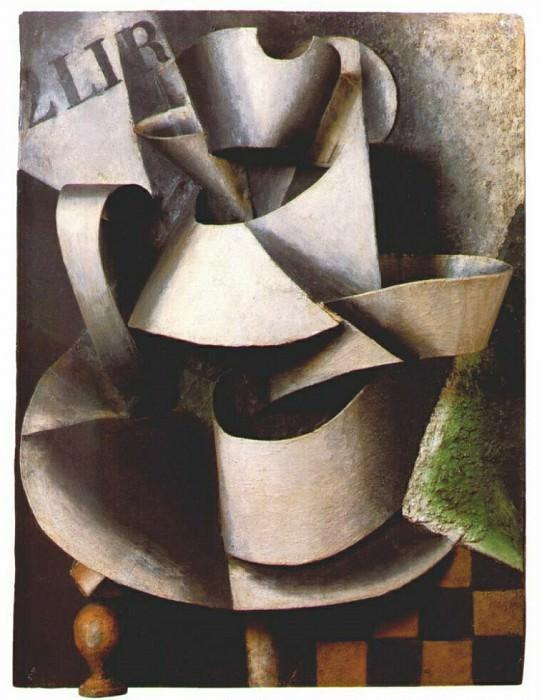 Кувшин на столе (пластичная живопись), 1915. Любовь Сергеевна Попова