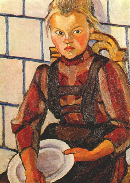 Портрет сестры художницы, 1908-09. Любовь Сергеевна Попова
