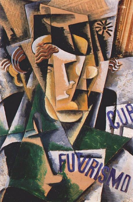 Футуристический портрет, 1915. Любовь Сергеевна Попова