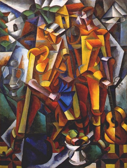 composition with figures 1913. Popova