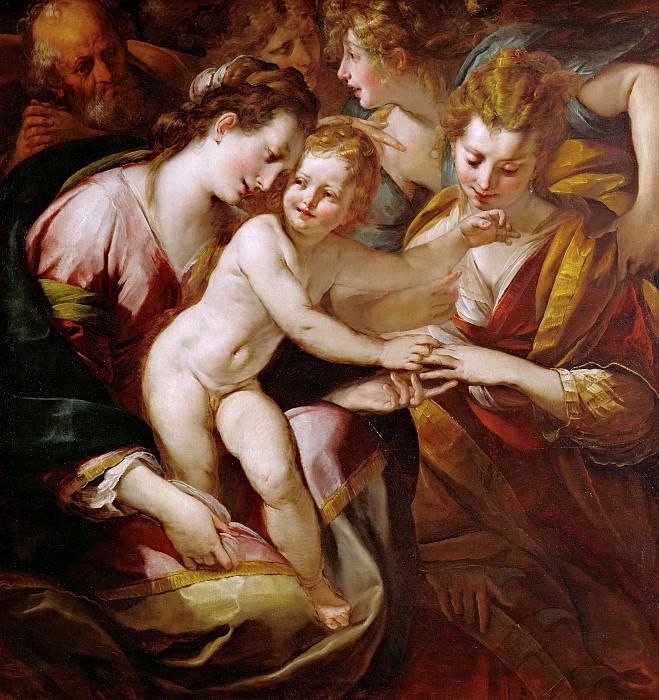 Мистическое обручение святой Екатерины. Джулио Чезаре Прокаччини