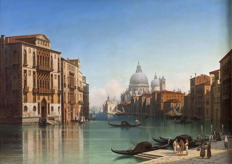 View of Canal Grande in Venice. Gustaf Wilhelm Palm