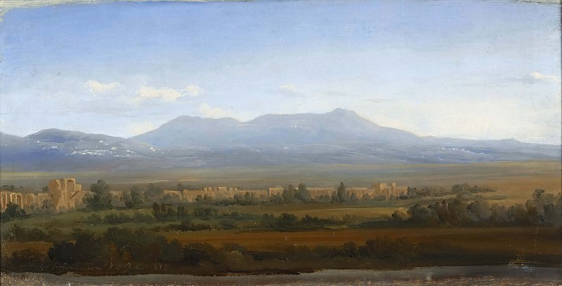 View from the Albano Mountains. Study. Gustaf Wilhelm Palm