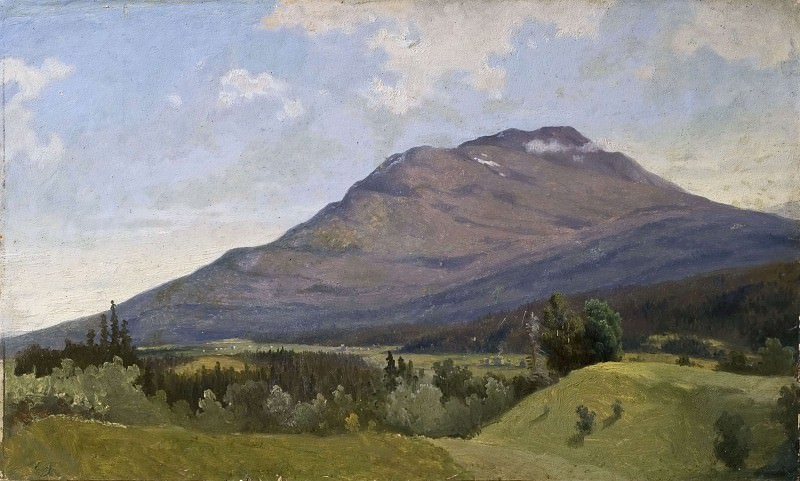 Summer Landscape with Mountain. Gustaf Wilhelm Palm