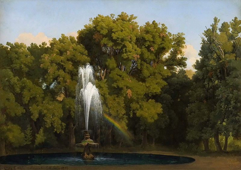 In the Park, Frascati. Study. Gustaf Wilhelm Palm