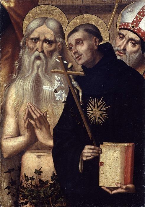 Санти Онофрио. Никола да Толентино и святой епископ. Доменико Панетти