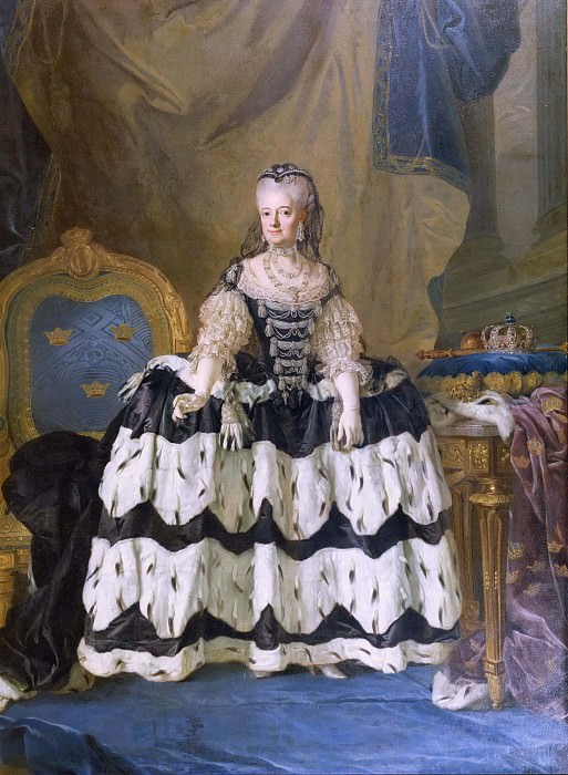 The Dowager Queen Lovisa Ulrika of Sweden. Lorens Pasch the Younger