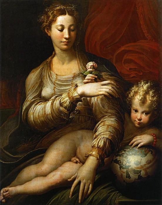 Мадонна с розой. Пармиджанино (Франческо Маццола)