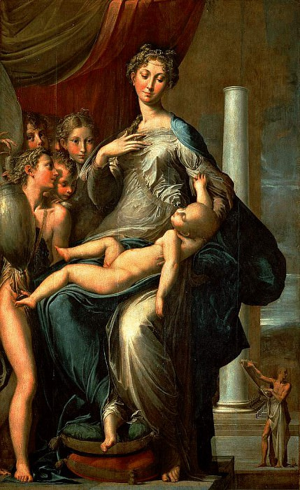 Мадонна с длинной шеей. Пармиджанино (Франческо Маццола)