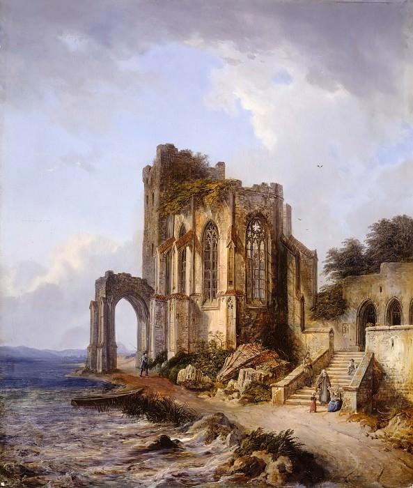 Ruins of a Gothic Church on the Shore. Domenico Quaglio