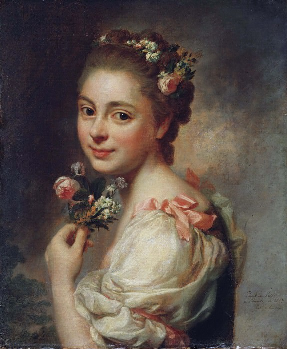 Portrait of the Artist's Wife Marie Suzanne, née Giroust. Alexander Roslin