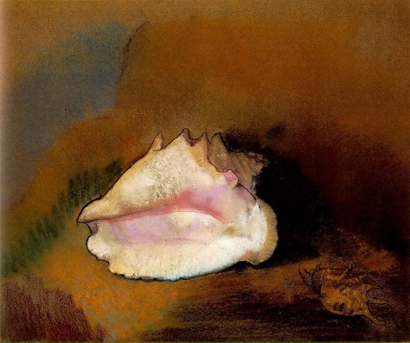 Redon La coquille, 1912 Pastel on paper, 51 x 57.8 cm Muse. Odilon Redon