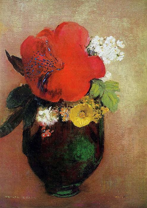 Flower still life. Odilon Redon