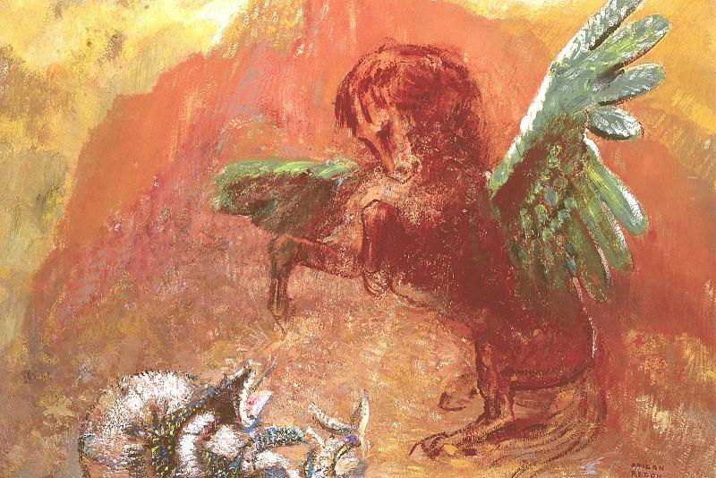 Pegasus and Hydra, Redon - 1600x1200 - ID 8173. Odilon Redon