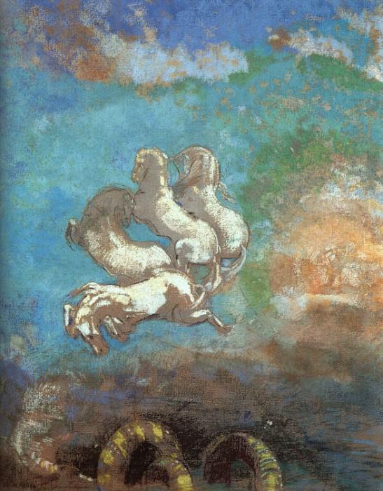 Le Char d'Apollon. Odilon Redon