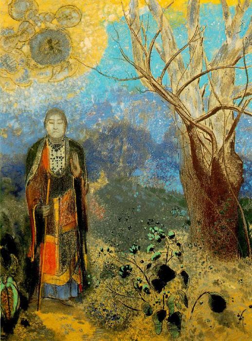 Redon Le bouddha, c. 1905 Pastel on paper, 98 x 73 cm Muse. Odilon Redon