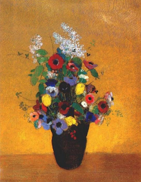 Цветы, ок.1905. Одилон Редон